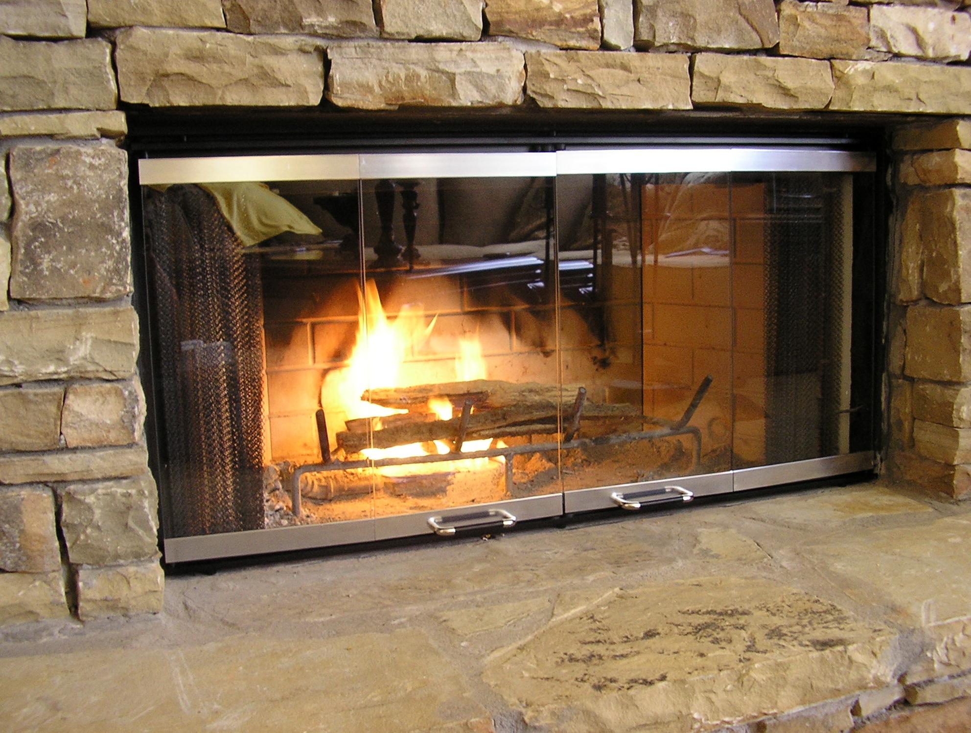 Glass Fireplace Doors Image collections - Glass door, Interior ...