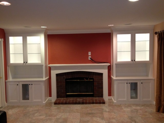 Fireplace Mantels With Bookshelves