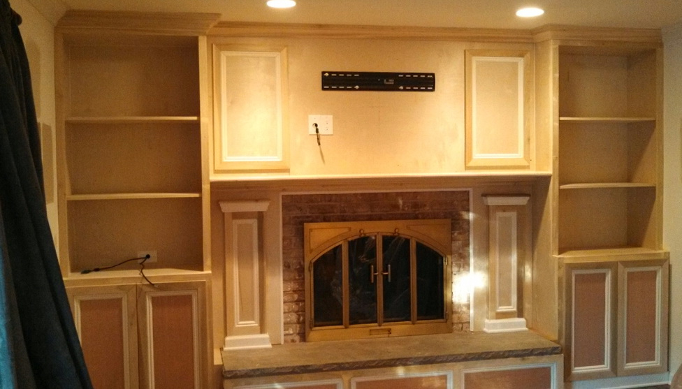 Permalink to Fireplace Mantels With Bookshelves On The Side