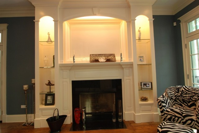 Fireplace Surround With Bookshelves