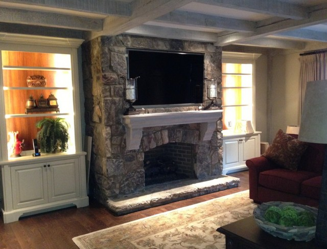 Mounting Flat Screen Tv Above Fireplace Home Design Ideas