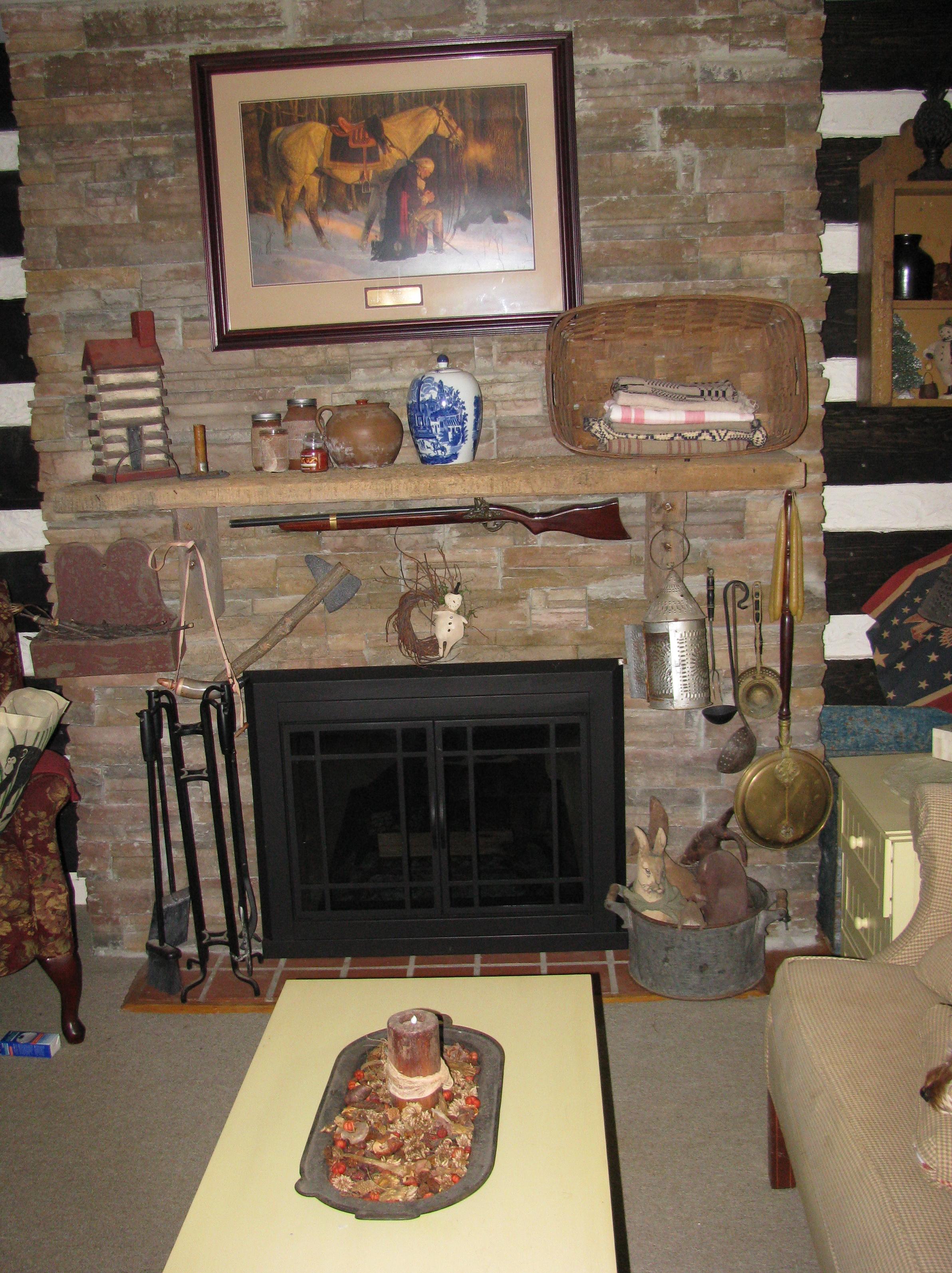 Log Cabin Fireplace Mantels Home Design Ideas