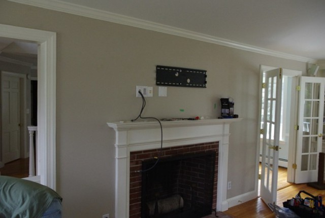 Tv Over Fireplace Hide Wires Home Design Ideas