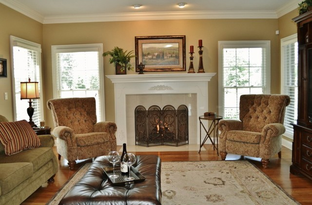 Paint Colors For Family Room With Brick Fireplace