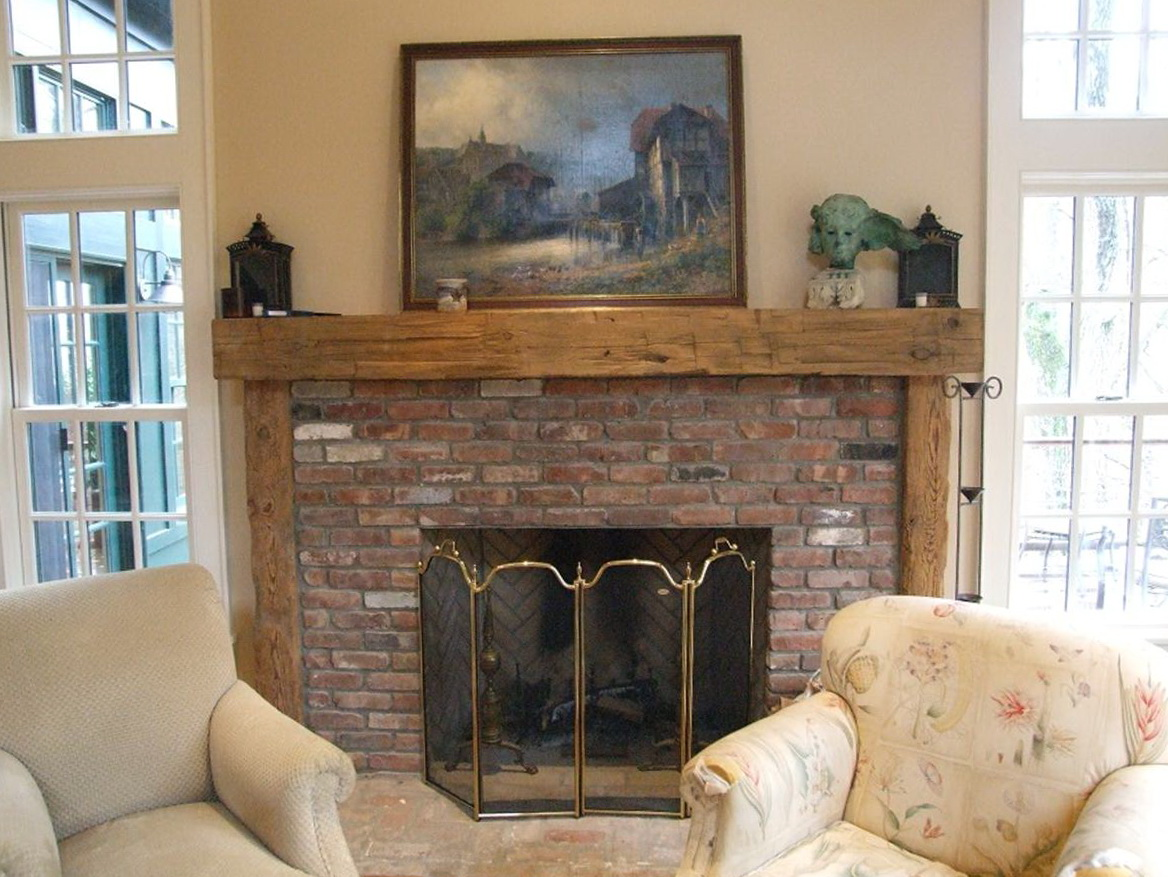 Reclaimed Wood Fireplace Surround Home Design Ideas