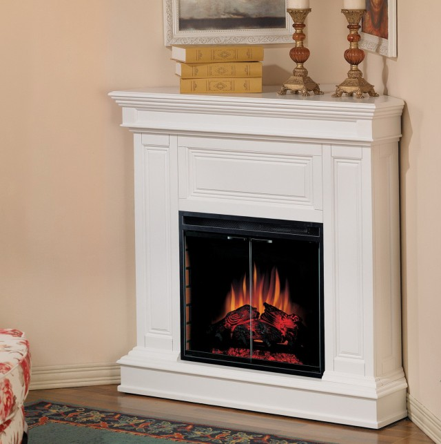 Small Corner Electric Fireplace