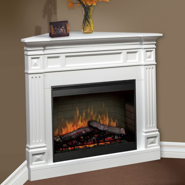 Small Corner Electric Fireplace Heater