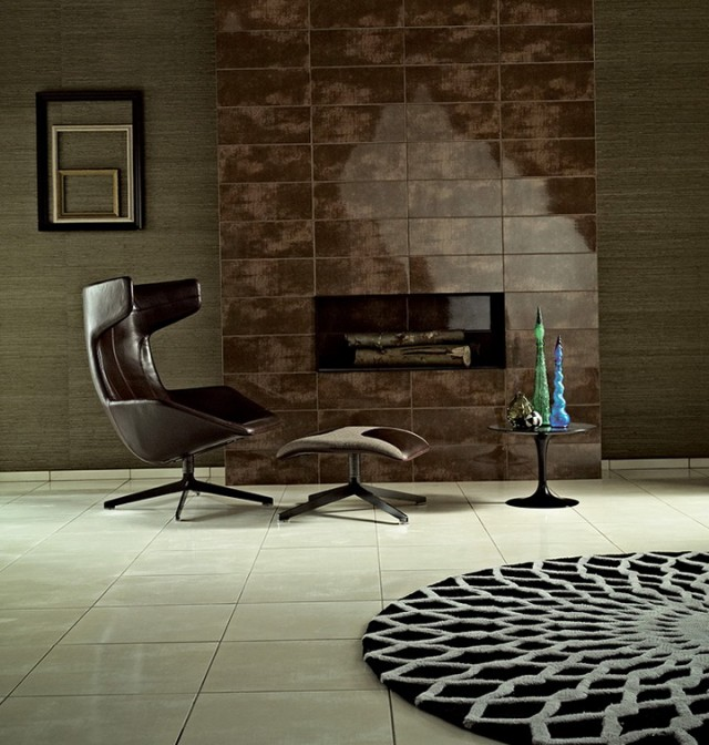 Stone Effect Tiles For Fireplace