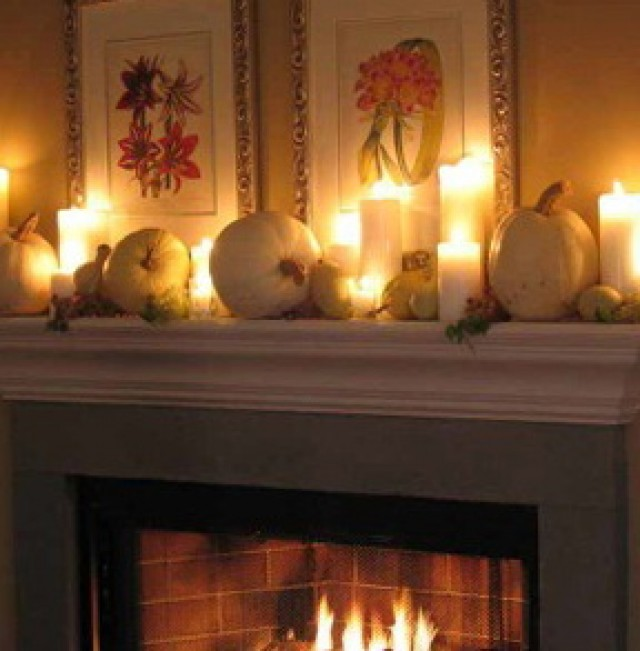 How To Decorate Fireplace Mantel For Thanksgiving | Home Design Ideas