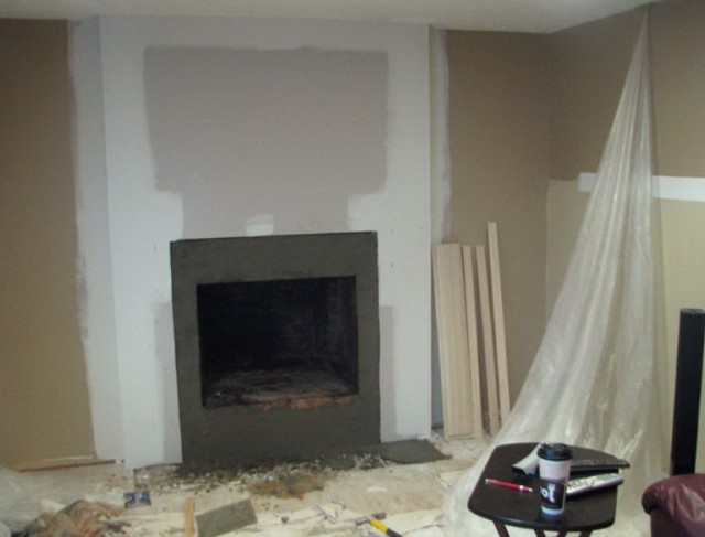 Tile Over Brick Fireplace Before And After