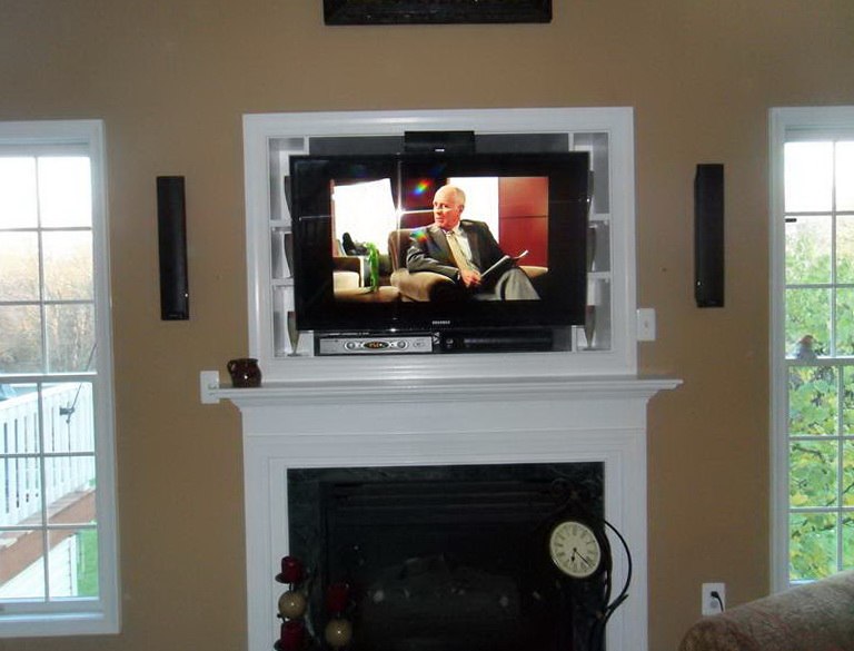 Tv Wall Mount Above Fireplace Ideas | Home Design Ideas