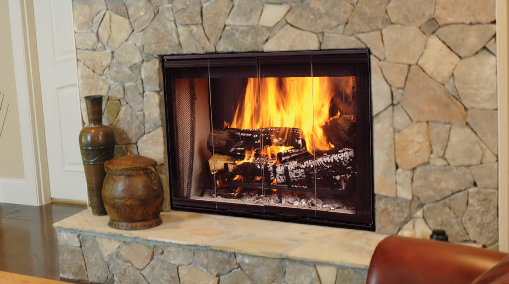 Two way wood burning fireplace home design ideas for 2 way fireplace