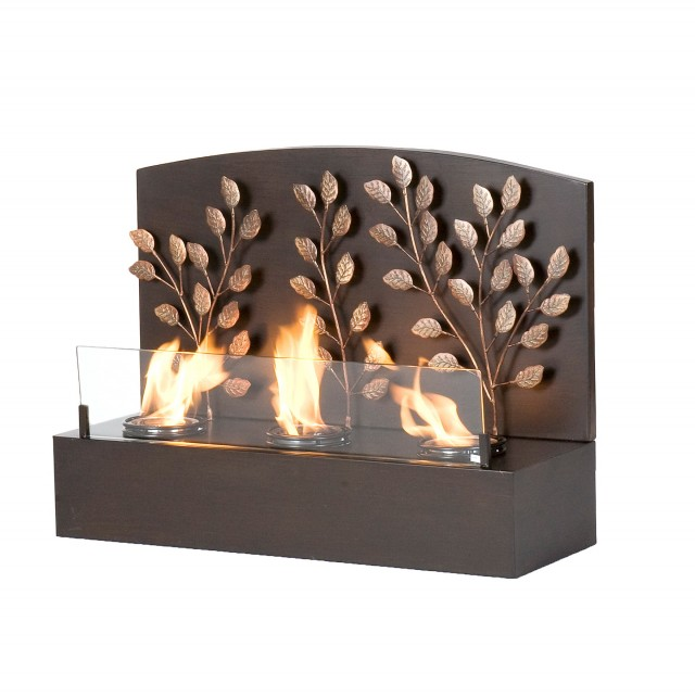 Upton Home Loft Brushed Nickel Portable Indoor Outdoor Fireplace