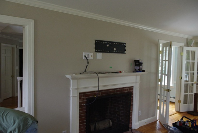 Wall Mount Tv Over Fireplace Hiding Wires