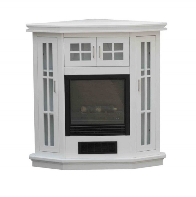White Corner Electric Fireplace Tv Stand