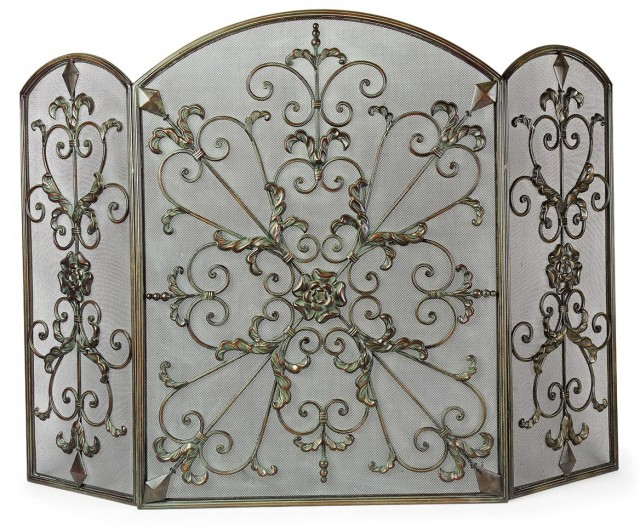 Wrought Iron Fireplace Screens Decorative