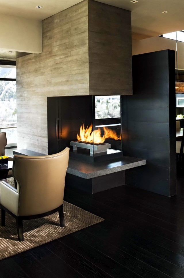 3 Sided Fireplace Ideas Part - 47: 3 Sided Fireplace Decorating Ideas