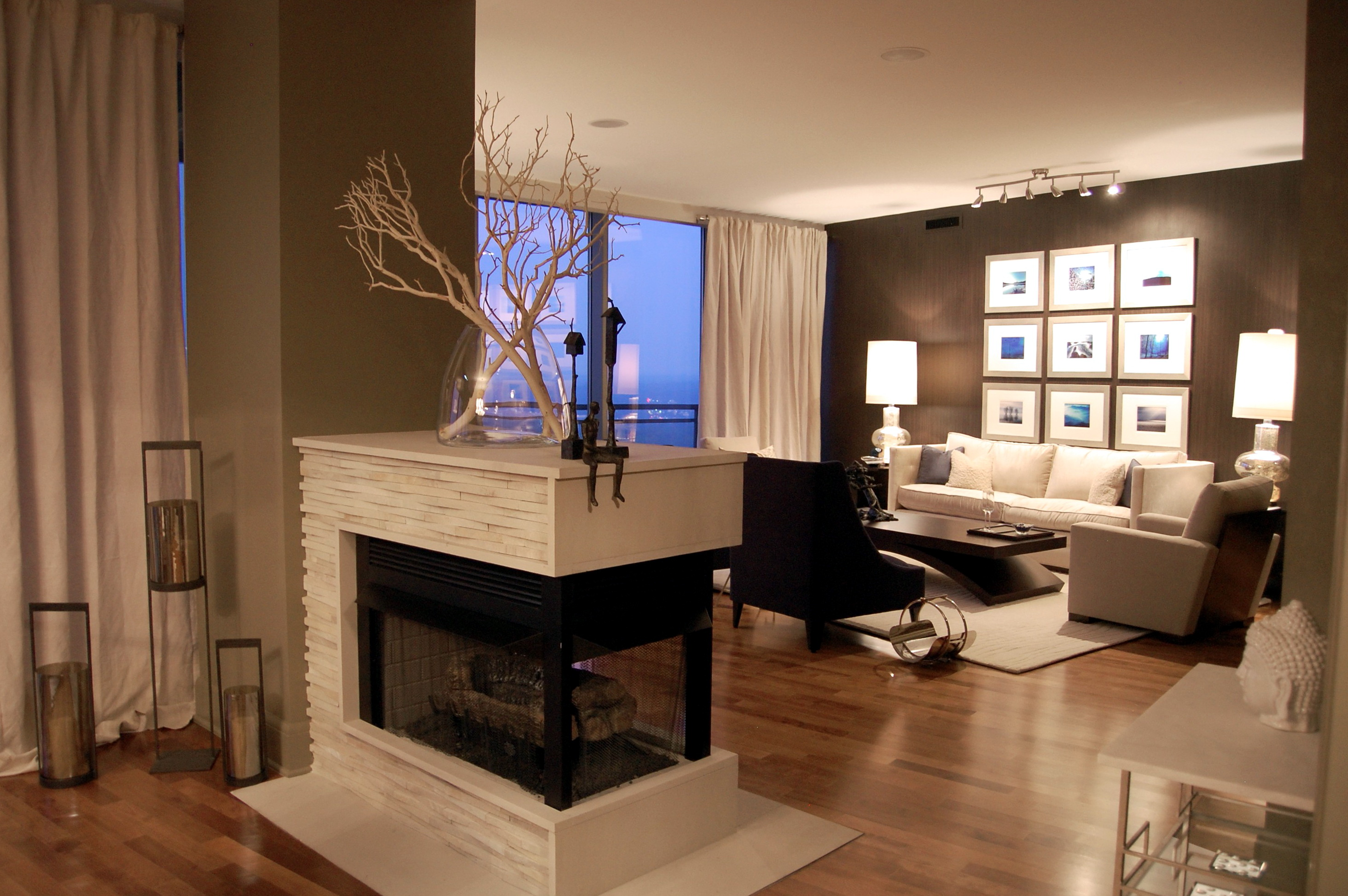 peninsula sb ascent fireplace embers view outdoor napoleon categories sided living acsent multi gas fireplaces