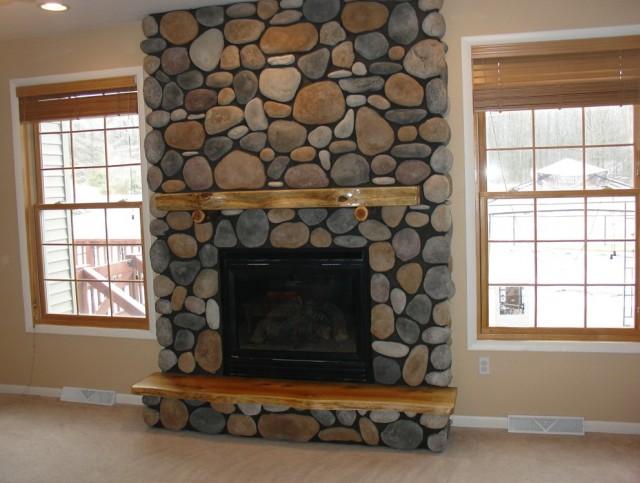 Wood Gas Fireplace Combination Home Design Ideas