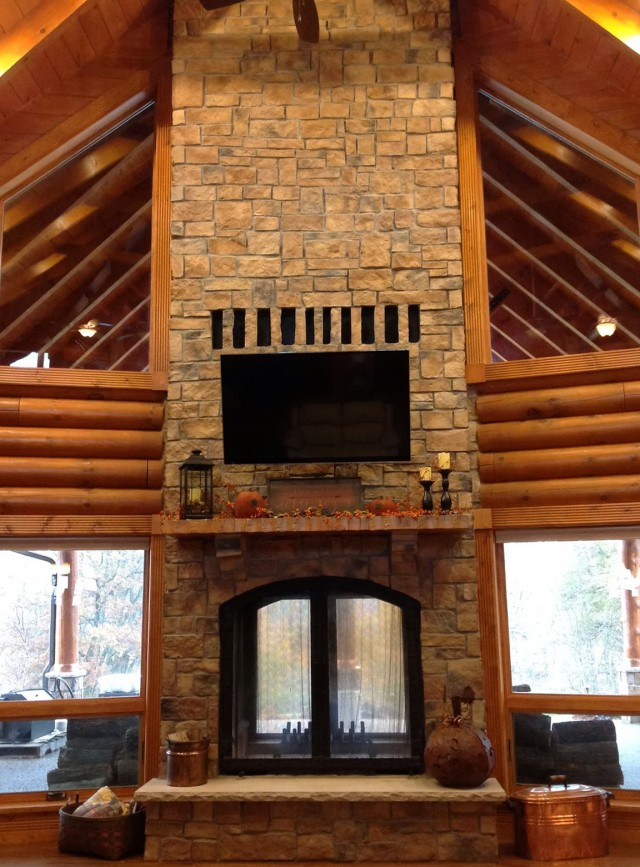 Double Sided Wood Burning Fireplace Indoor Outdoor