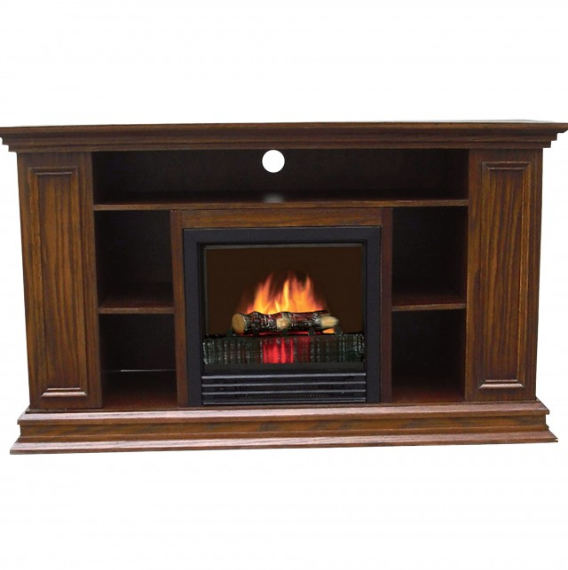 Fresno electric fireplace tv stand in white finish home design ideas - Fireplace finish ideas ...