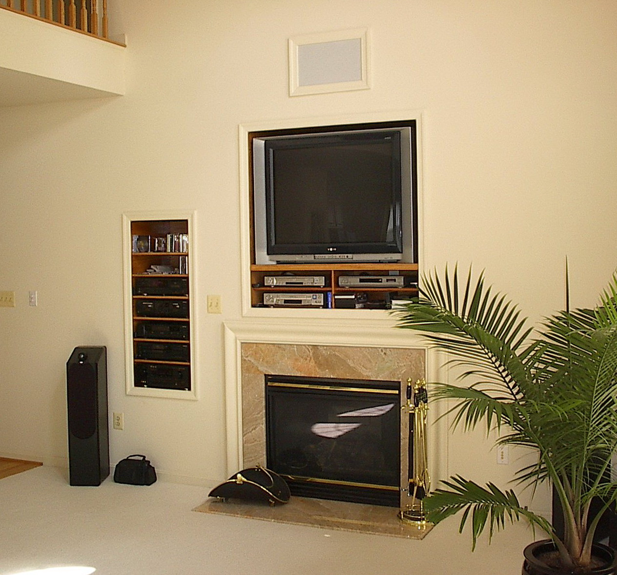 Entertainment Center With Fireplace And Fridge   Home Design Ideas