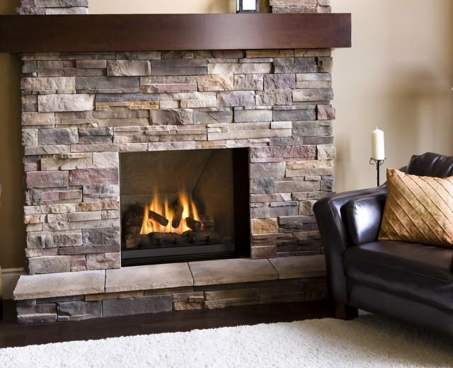 Gas Fireplace Rocks Stones Home Design Ideas.