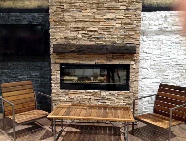Fireplace Stone Veneer Over Brick