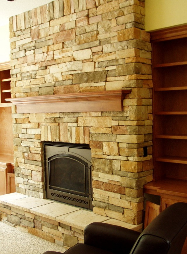 Floor To Ceiling Fireplace Makeover | Home Design Ideas