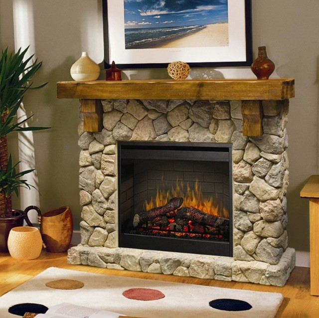 free standing electric fireplace with mantel - Free Standing Electric Fireplace