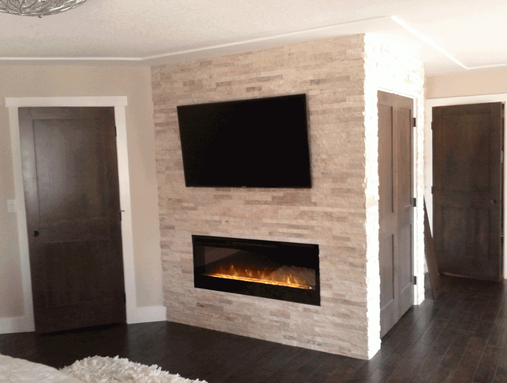 Gas Fireplace Stone Surround