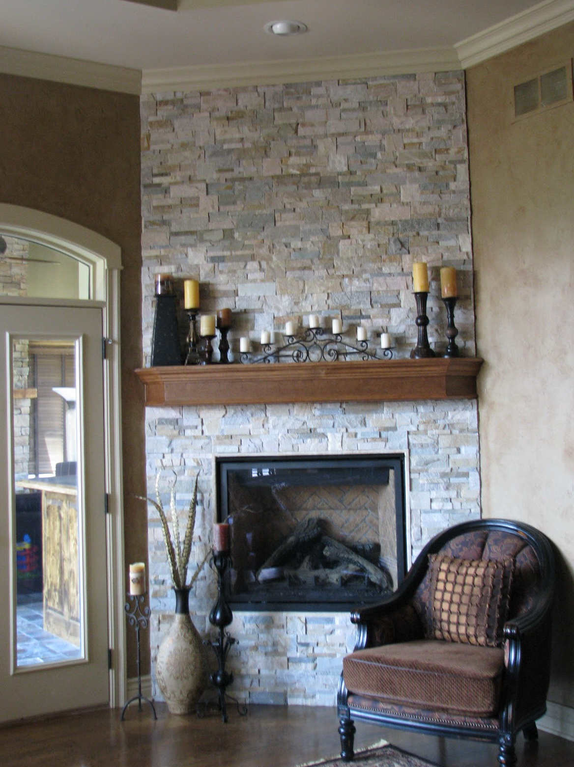 How To Paint A Brick Fireplace To Look Like Stone | Home ...