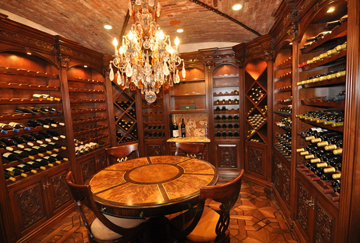 Luxury home wine cellars home design ideas for Luxury home wine cellars