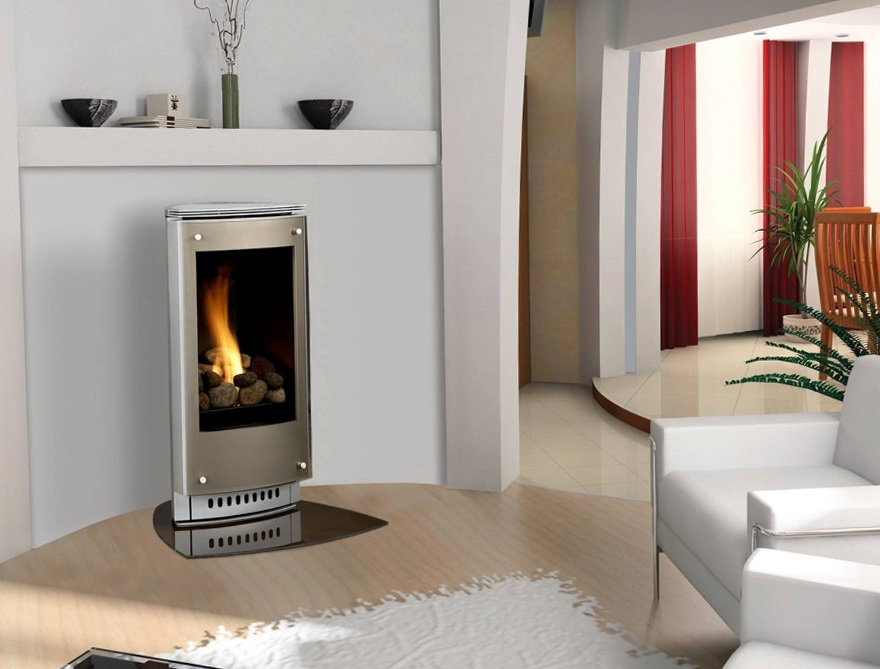 Modern Gas Fireplace Freestanding Home Design Ideas
