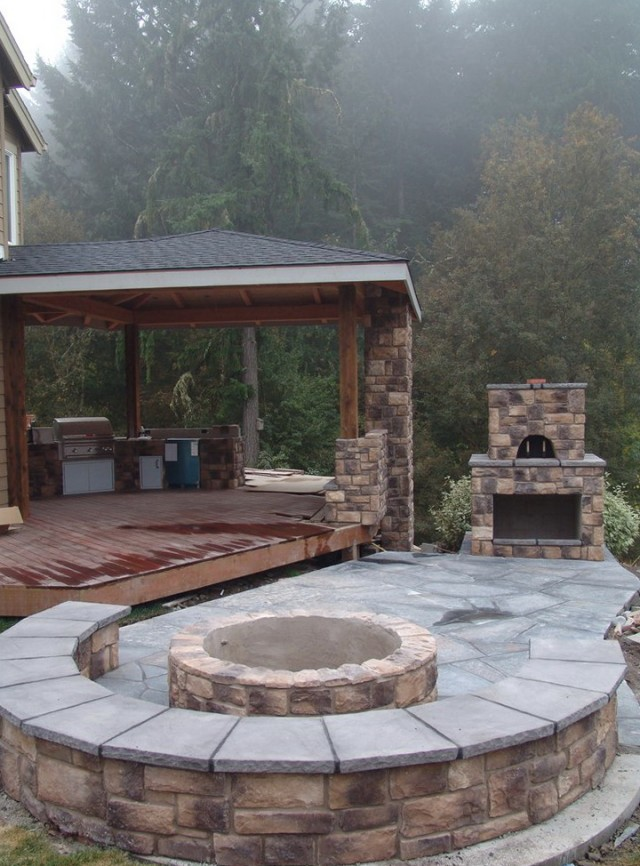 Outdoor Covered Patio With Fireplace Ideas Home Design Ideas