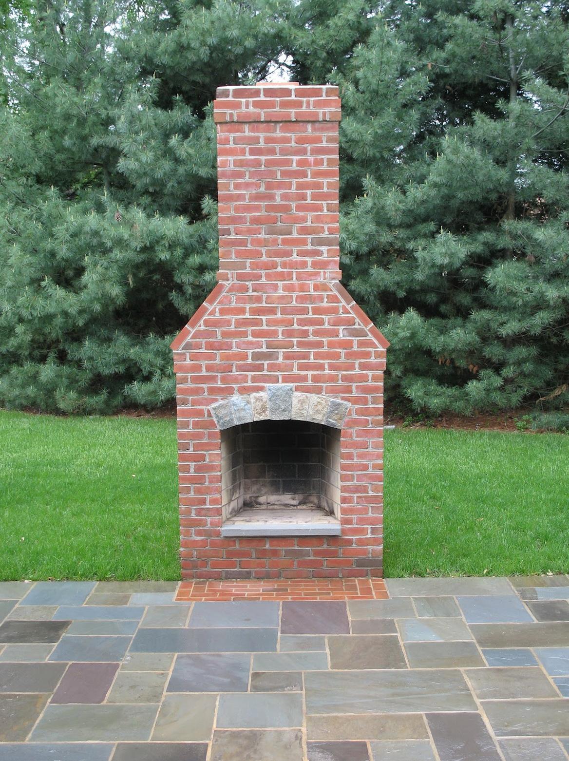 outdoor fireplace no chimney home design ideas