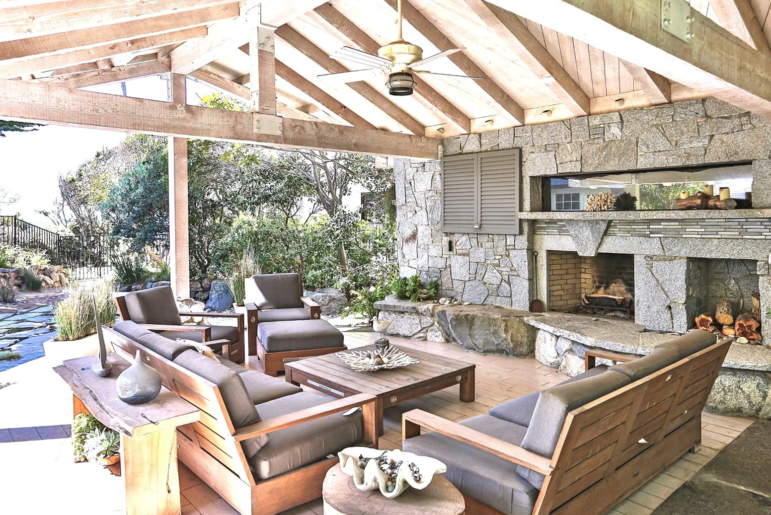 Covered Outdoor Fireplace Ideas | Home Design Ideas