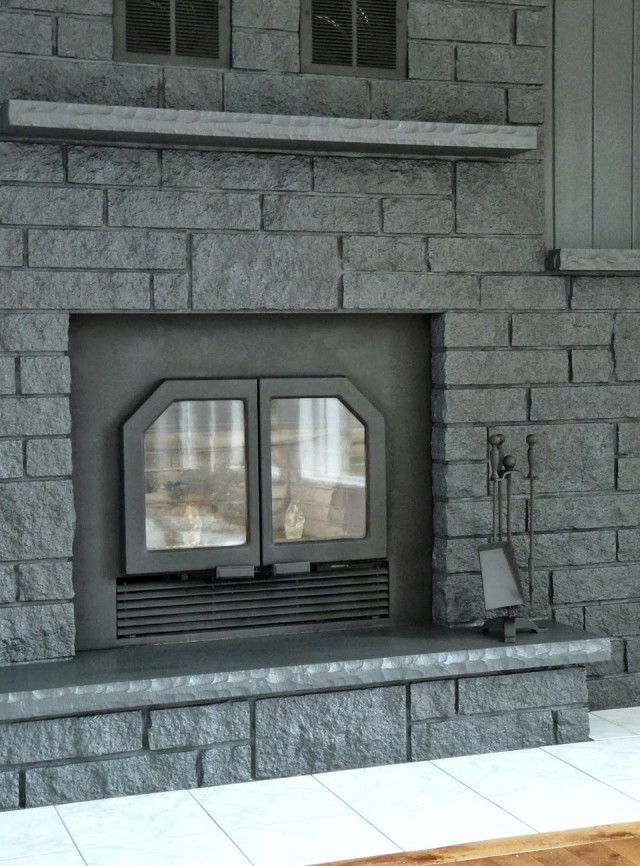 painted brick fireplace home design ideas