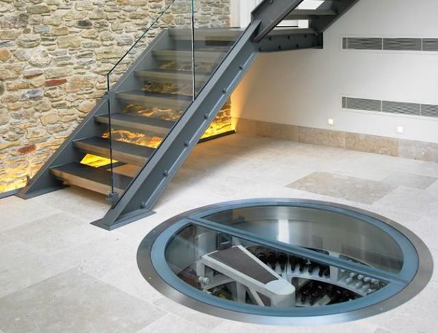 spiral wine cellar in kitchen floor | home design ideas
