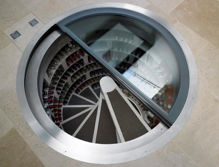 Wine Cellar In Floor Adorable This Man Put A Secret Window