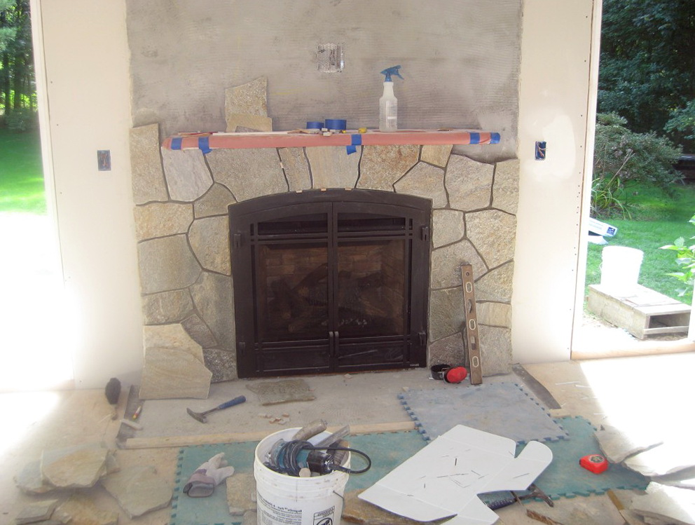 Stone Veneer Around Gas Fireplace Home Design Ideas