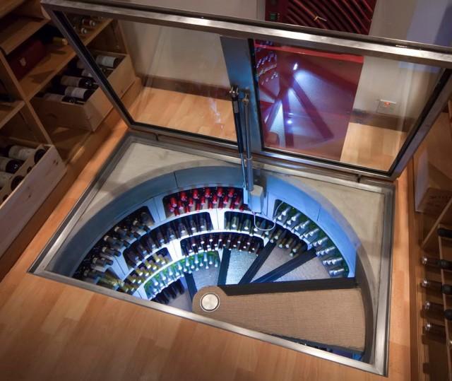 Underground Wine Cellar Spiral & Spiral Wine Cellar Cost   Home Design Ideas