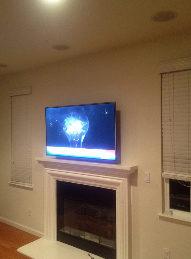 How To Mount Tv Over Fireplace Medium Image For Tv Mount
