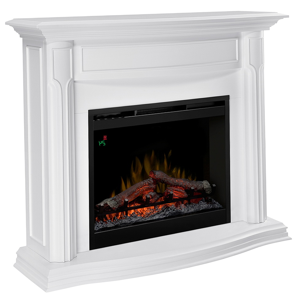 White Electric Fireplace With Mantel Home Design Ideas