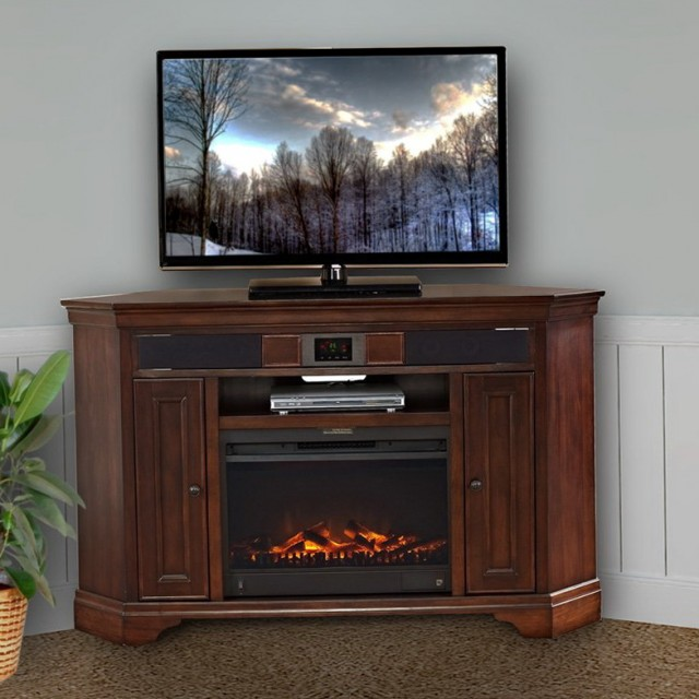 60 Corner Tv Stand With Fireplace