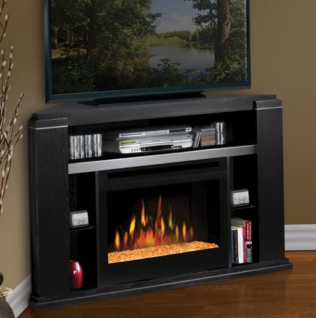 Black Electric Corner Fireplace | Home Design Ideas