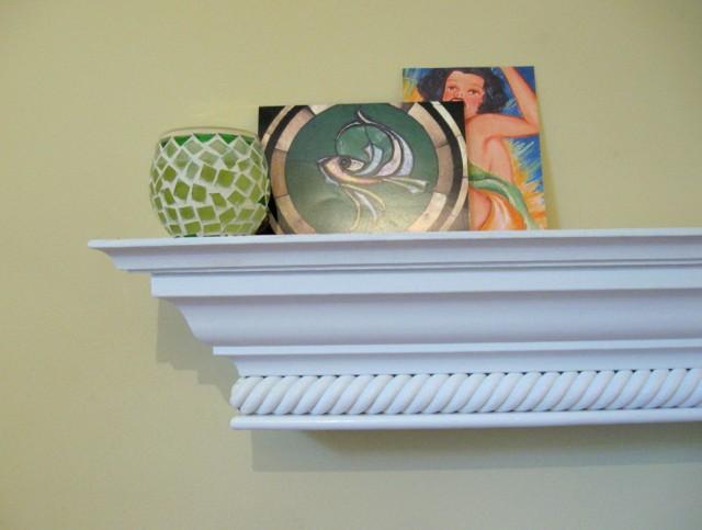 Black Fireplace Mantel Shelf