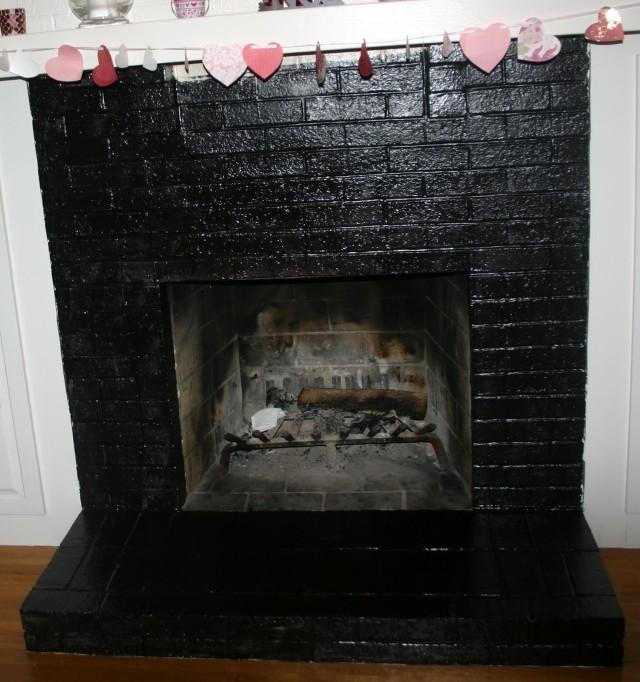 Painted Brick Fireplaces Ideas Home Design Ideas