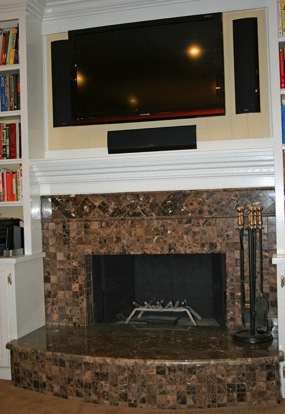 Brick Fireplace Cover Up Home Design Ideas