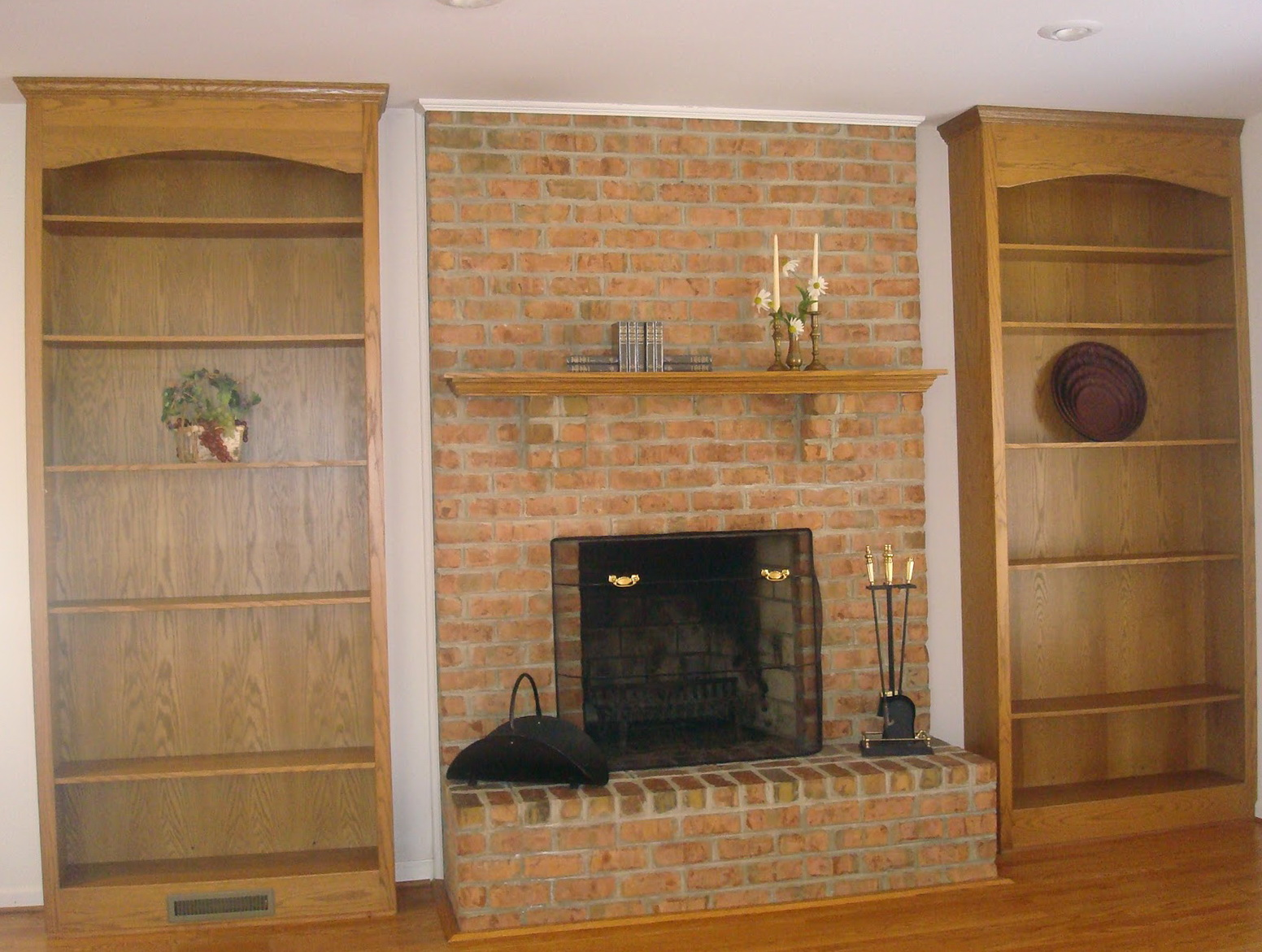 Fireplace remodel before and after